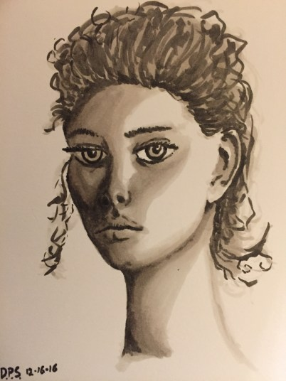Face Sketch with 3 Copic Markers