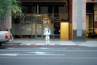Why did the Stormtrooper cross the road?