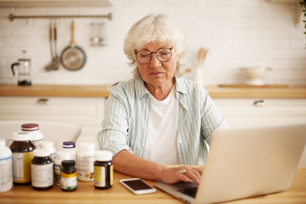 Woman displeased with her supplements