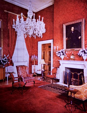 White House - Red Room Before Restoration