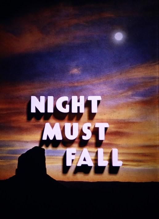 Hutchison at Night - Night Must Fall