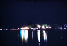 Hutchison at Night - Hutchinson Water Carnival - River Carnival Scene