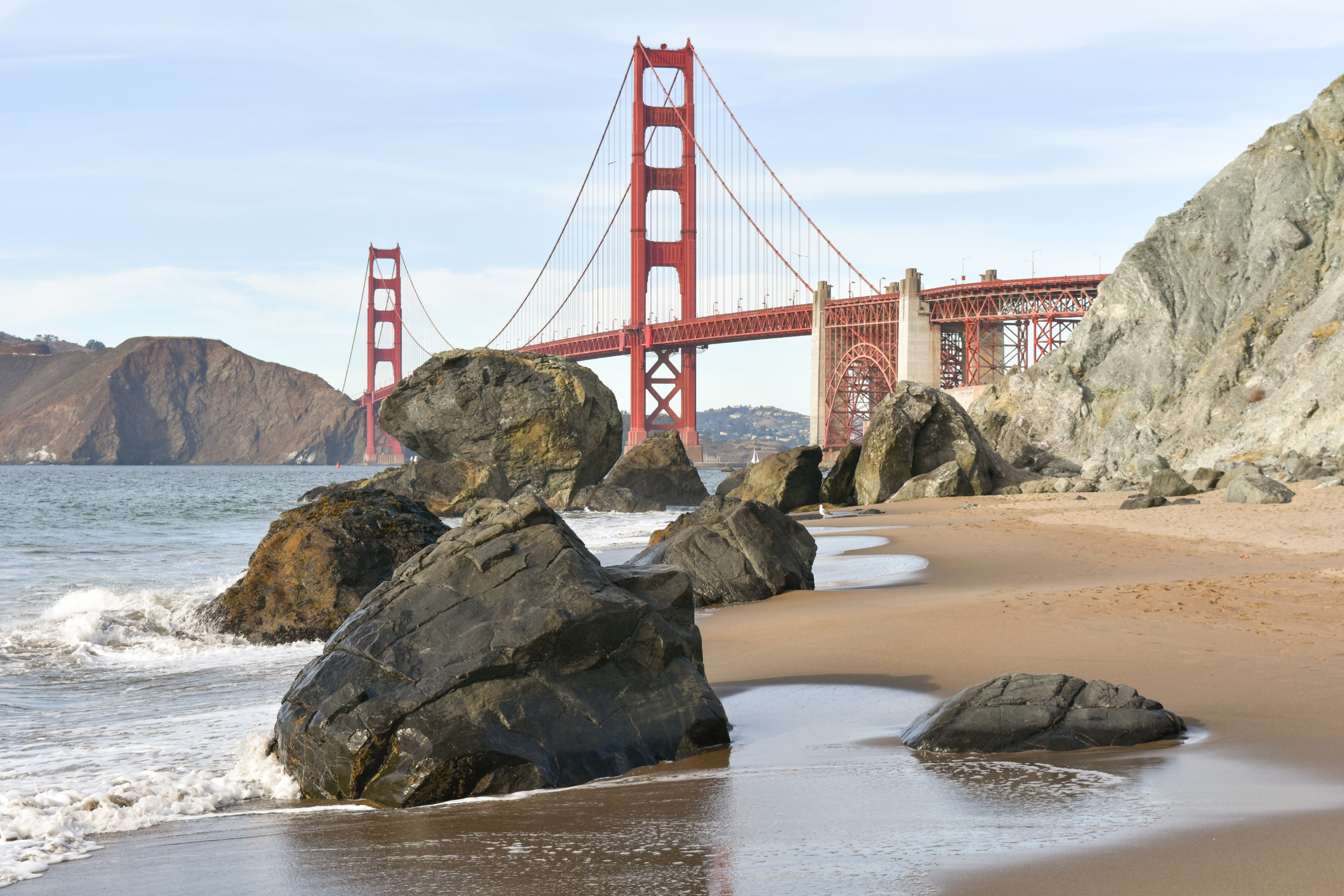 Golden Gate With Boulders