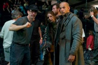 David Twohy, Alexa Davalos, Vin Diesel, start of Terminator Run sequence, TCOR, 2003.