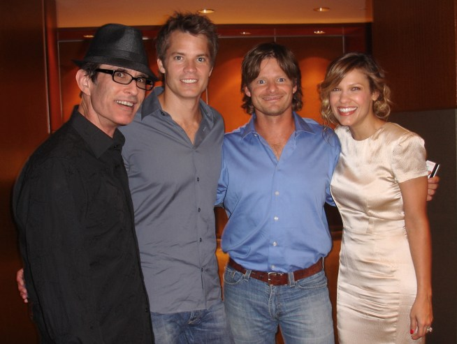 David Twohy, Tim Olyphant, Steve Zahn, Kiele Sanchez at NY Junket.