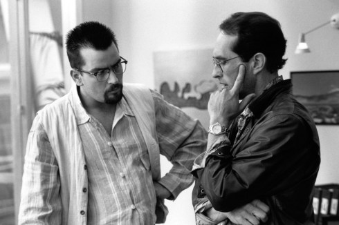 Charlie Sheen and David Twohy, best idea wins, ARRIVAL, 1995.