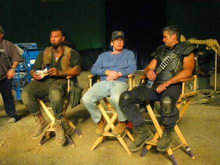 Dave Bautista, David Twohy, Matt Nable, Montreal, RIDDICK, 2012.