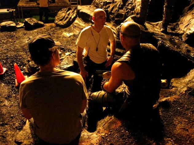David Twohy, Myron Hoffert, Vin Diesel, figuring shit out on Demon Peak, RIDDICK, 2012