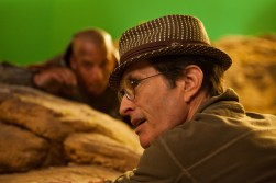 David Twohy on set in Montreal RIDDICK 2012.