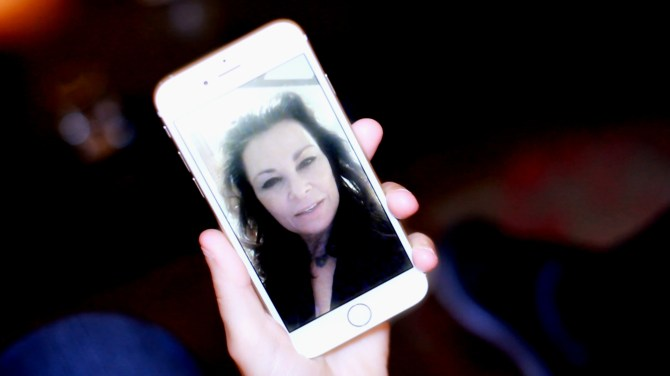 It was fun that I was able to take with me - a cute video message from our mutual friend, actress and singer Jane Badler.