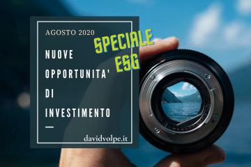 OPPORTUNITA' INVESTIMENTO AGOSTO 2020