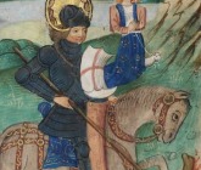 St George Slays The Dragon In The De Grey Hours Flanders Late 14th