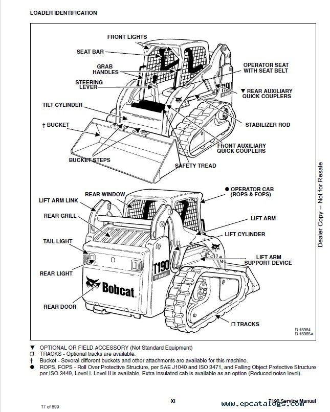 Bobcat t190 repair manual pdf