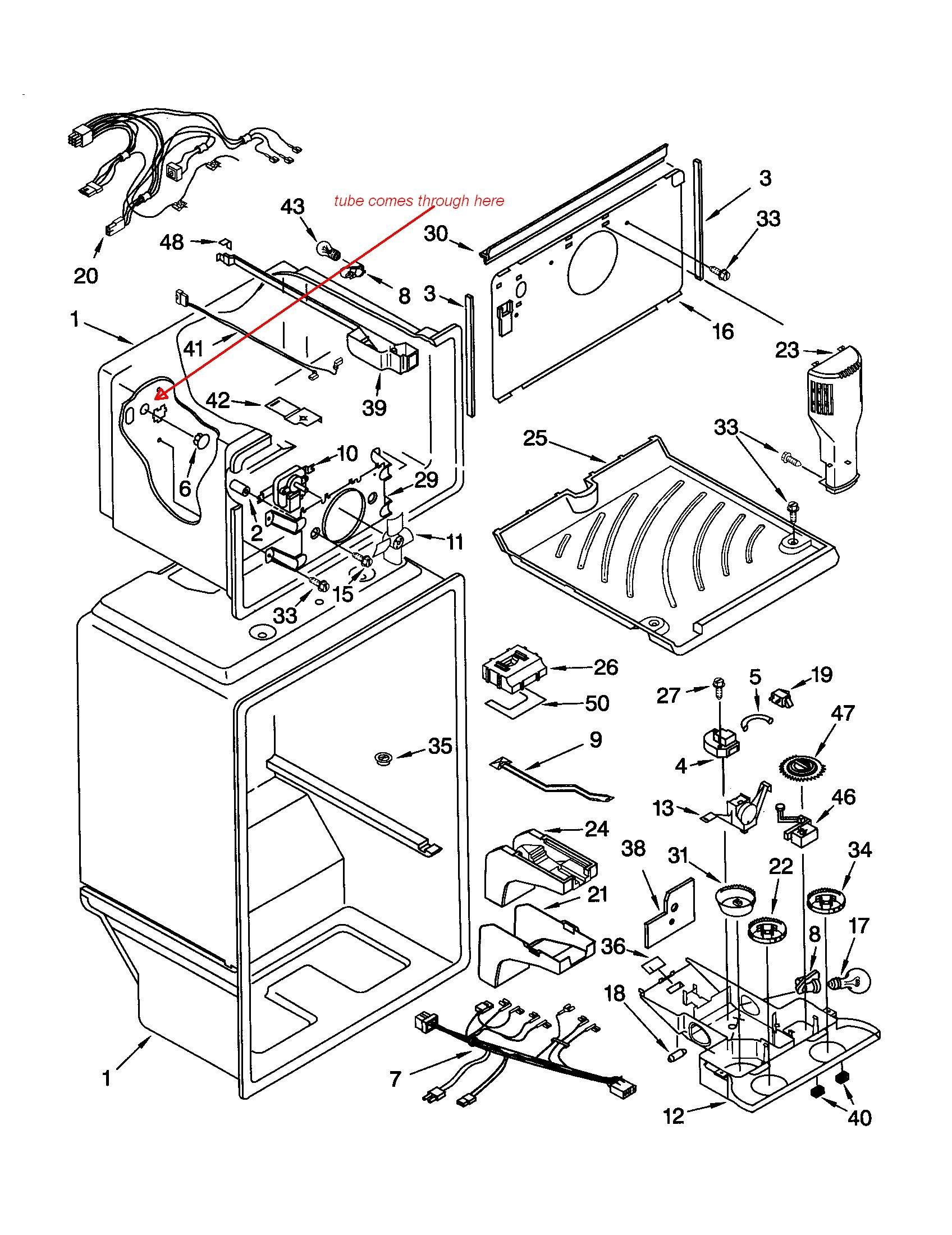 Kenmore coldspot 106 parts manual