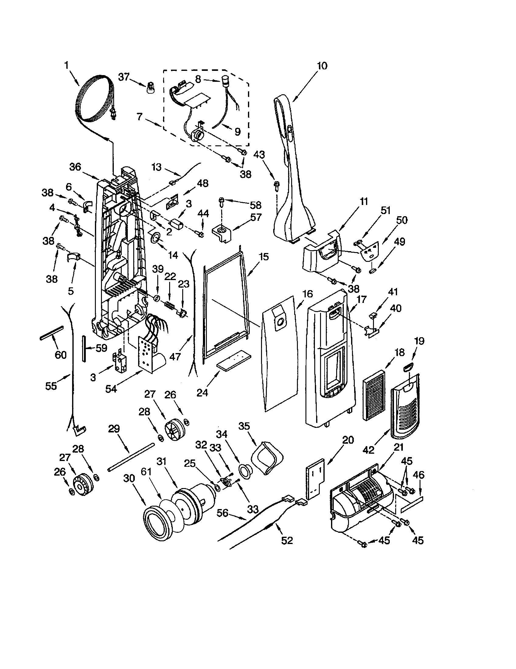 Kenmore elegance vacuum repair manual