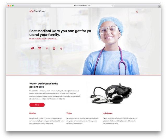 MedZone Lite: Free Medical WordPress Theme