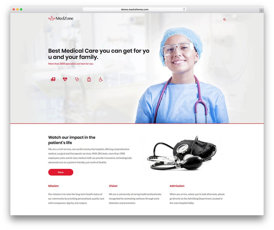 MedZone Lite: Free Medical WordPress Theme