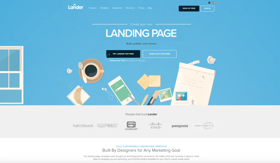 Landing Pages by Lander