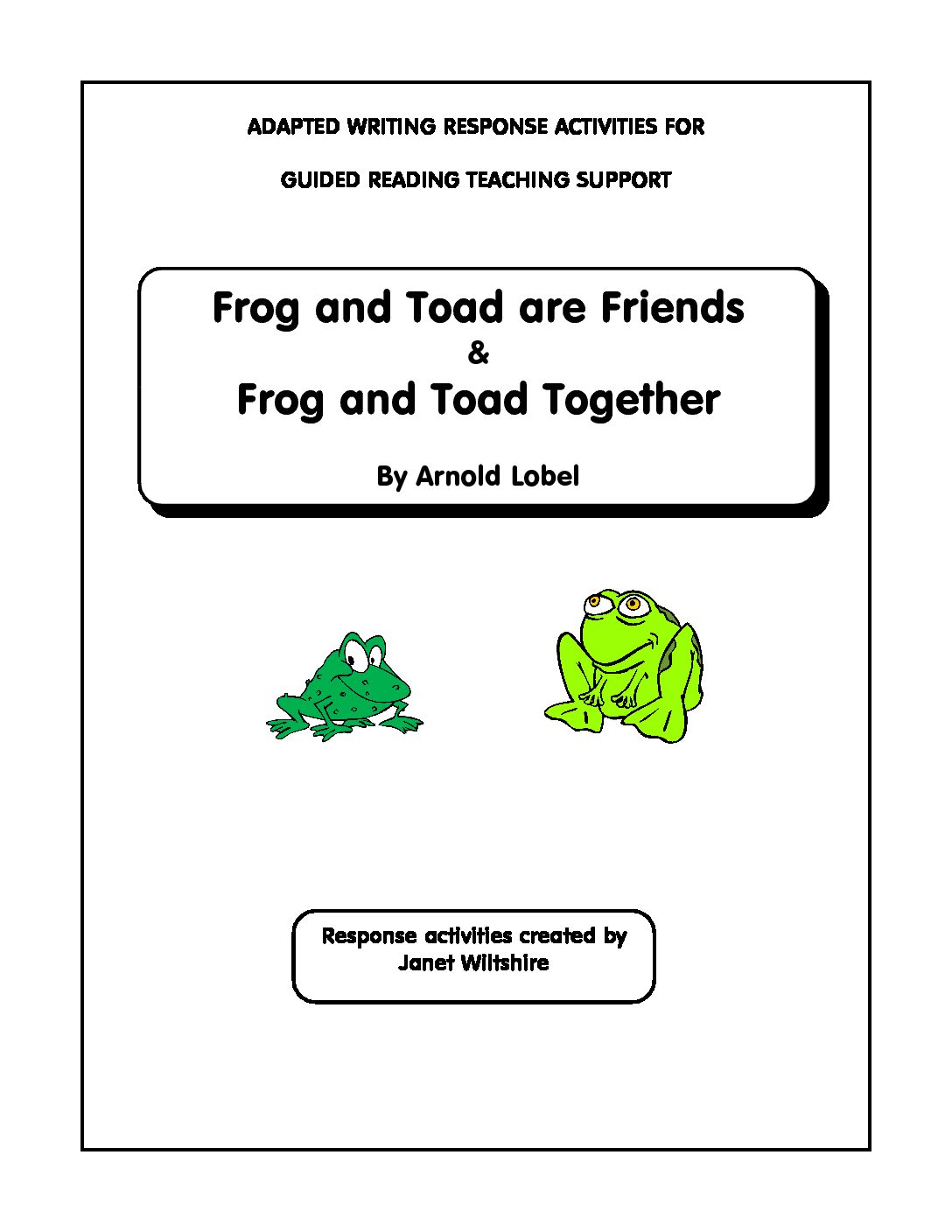 Frog And Toad Are Friends Frog And Toad Together