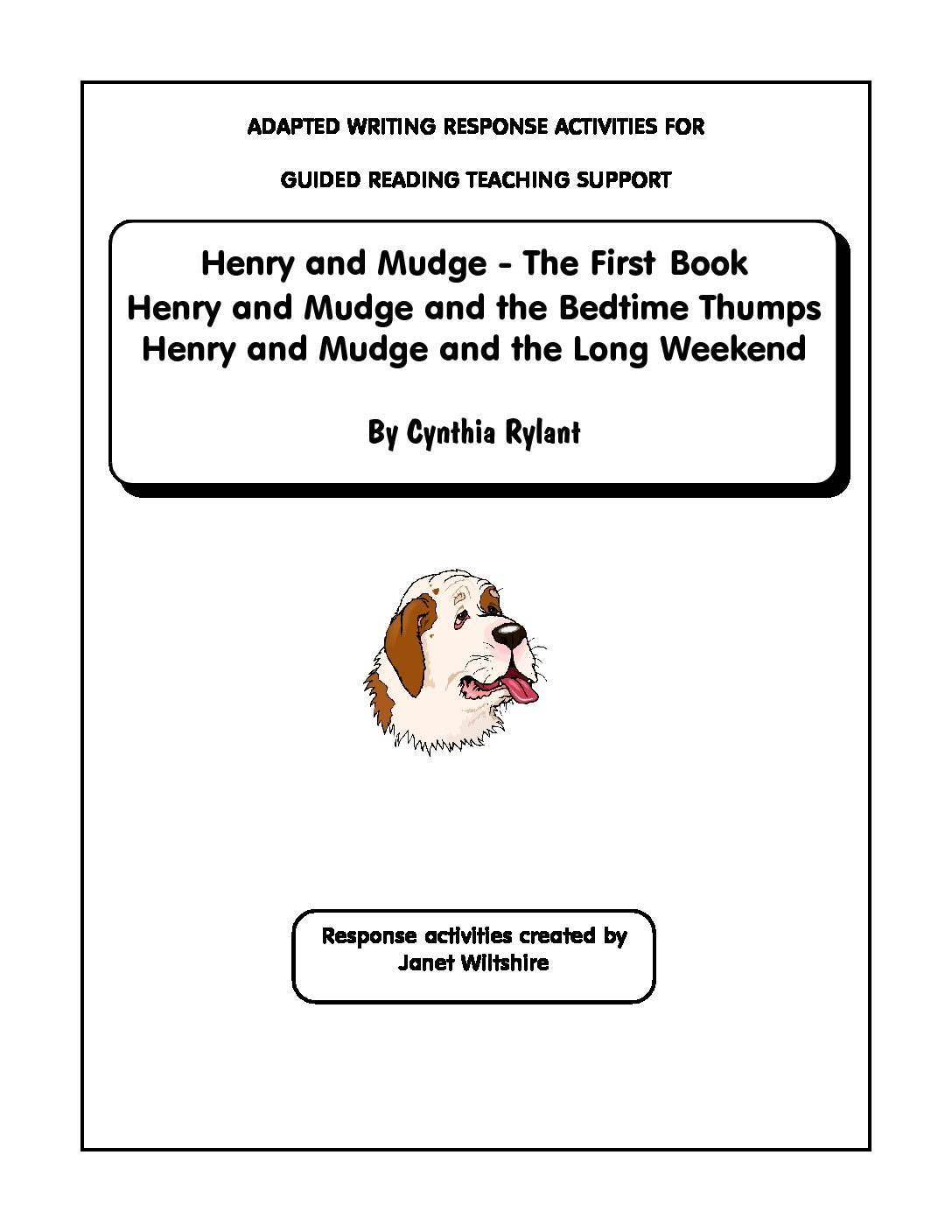 Henry And Mudge Set Of Stories