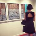Attending an art opening