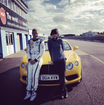 Driving a race car with Bentley