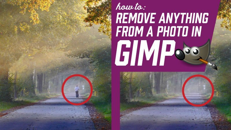 Como remover qualquer coisa de uma foto no GIMP