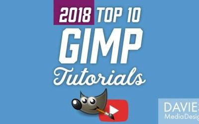 Top 10 GIMP Tutorials on YouTube of 2018