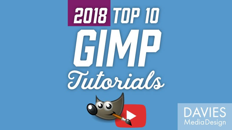 Top Tutoriais 10 GIMP no YouTube de 2018
