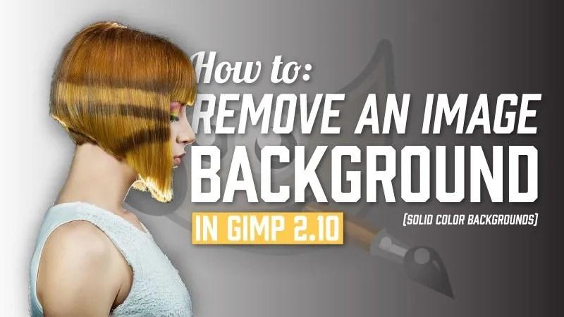 Come togliere sfondo foto con gimp