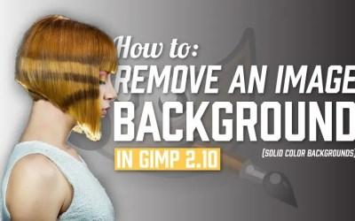 GIMP 2.10 (ठोस पृष्ठभूमि) में एक छवि पृष्ठभूमि कैसे निकालें