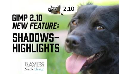 GIMP 2.10 Shadows-Highlights Feature (Text Version)