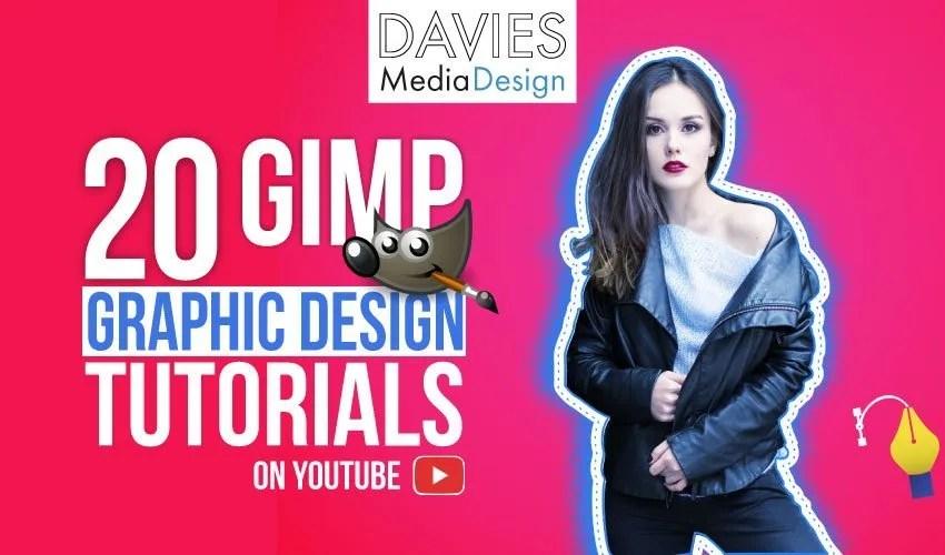 20 GIMP-grafiske designvejledninger på YouTube-videoliste
