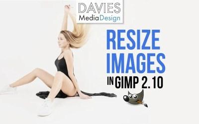 GIMP 2.10 में इमेज का आकार कैसे बदलें