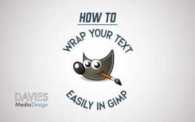 Zamotajte tekst oko kruga u GIMP 2.10