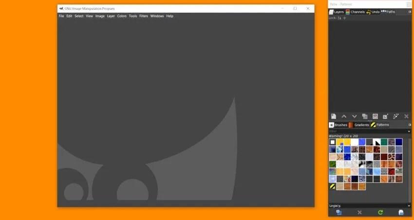 Verktygsalternativ Stängt i GIMP 2 10