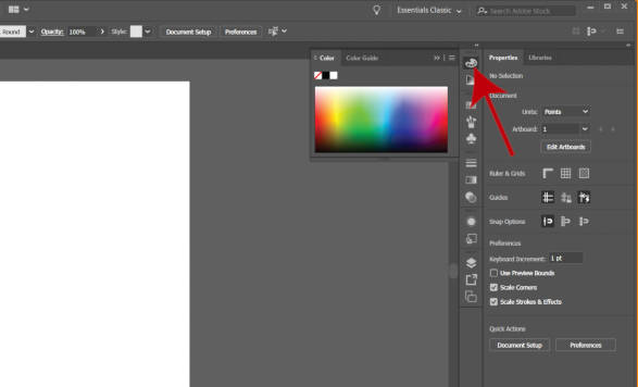Color Panel in Illustrator 2019