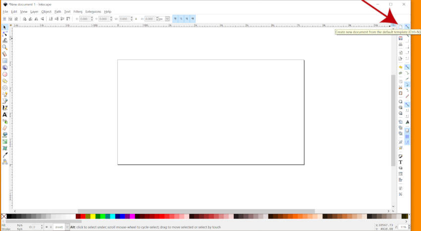 Creați New Canvas în Inkscape 2019