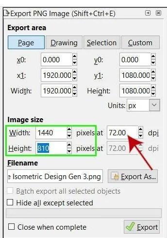 Kuvan tarkkuuden vähentäminen Inkscapessa