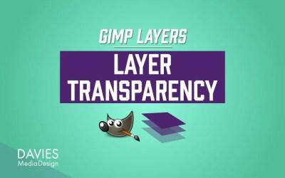 GIMP परतें: परत पारदर्शिता