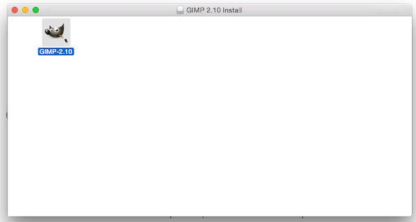 GIMP applikationsmappe til MAC