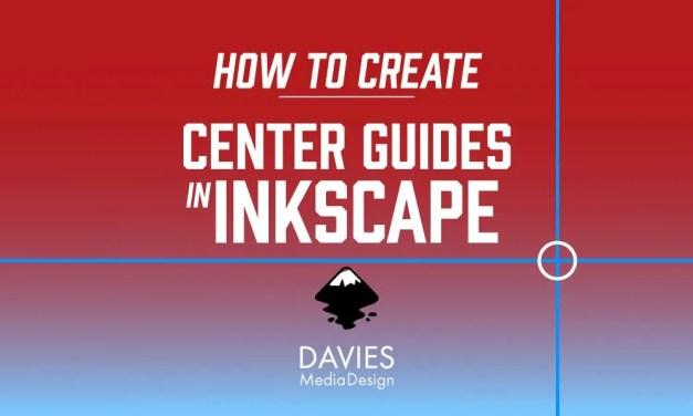 كيفية إنشاء أدلة مركز في إنكسكيب