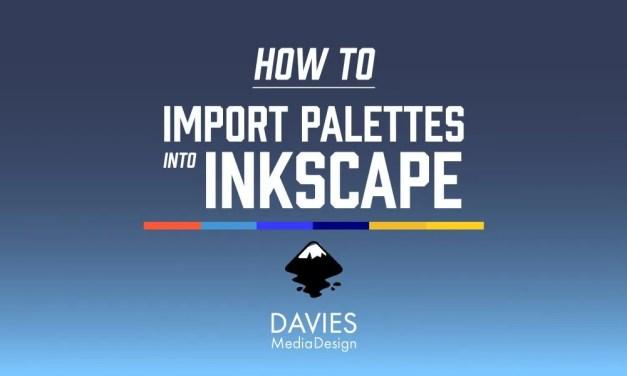 팔레트를 잉크 스케이프로 가져 오는 방법