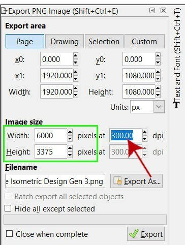 Increasing image resolution in Inkscape