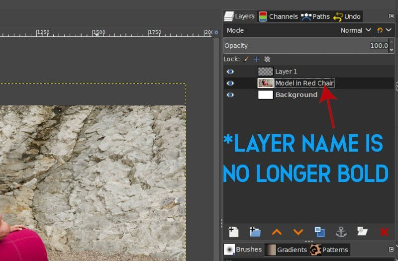 Layer Name No Longer Fet När Alpha Channel Added