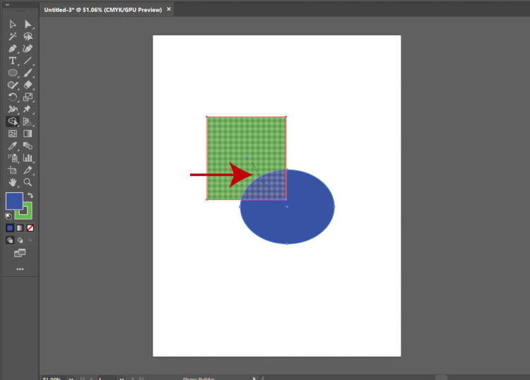 Merge shapes with Illustrator Shape Builder Tool