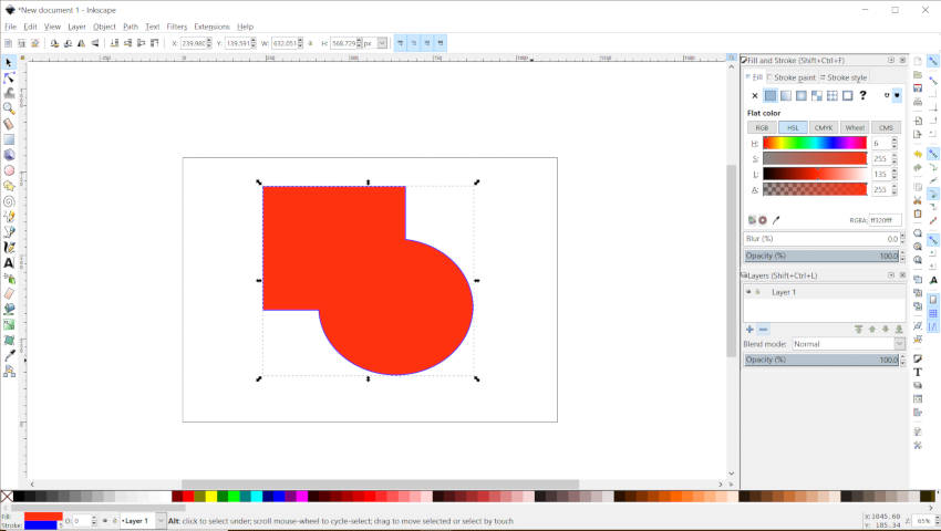 Union Path Shape Builder Feature Inkscape