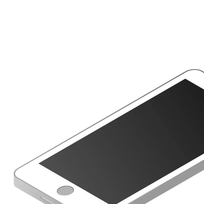 obszar niestandardowy telefonu izometrycznego