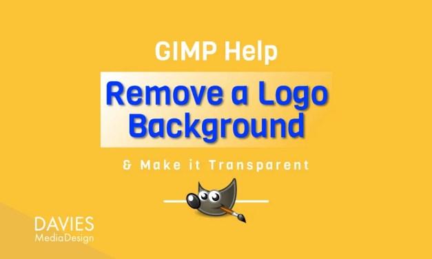 GIMPで白いロゴの背景を削除して透明にする
