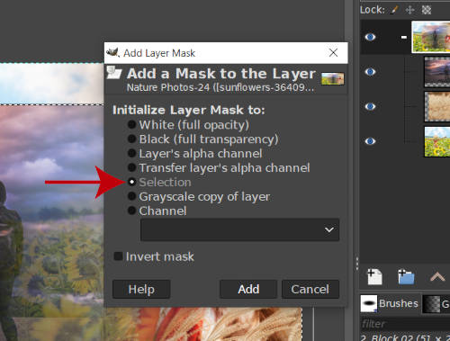 Initialize Layer Group Mask to Selection